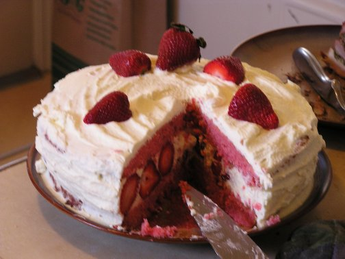Savvy Housekeeping Strawberry Cake For Easter