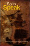 joy lanzendorfer so to speak short story